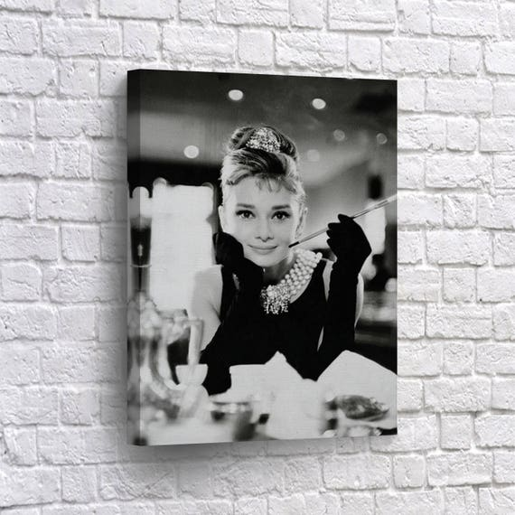 Audrey Hepburn Canvas Print Breakfast at Tiffany\'s Wall | Etsy