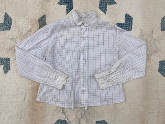 Antique Edwardian Checkered Blouse