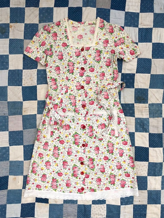 1930s/1940s Handmade Floral Day Dress