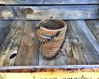 Ponderosa pine needle basket