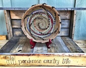 SOLD! Ponderosa Pine needle basket