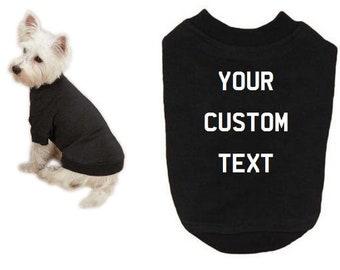5754a4a87e1c Custom Dog Shirt Pet Shirt Dog Tee Personalized Pet Clothing