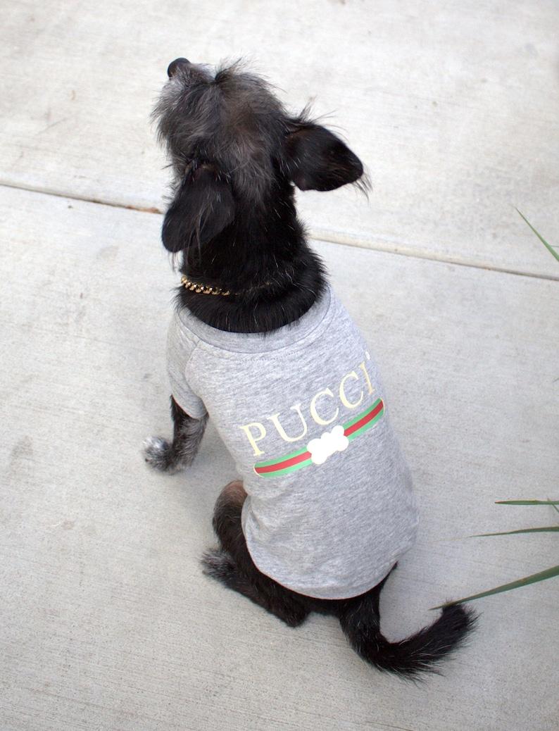 bed77acb24cb Designer Dog Shirt PUCCI Dog Tee Dog Tshirt Pet Clothing   Etsy