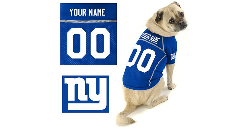 d5c79907b614 Custom Dog Jersey Pet Jersey with Any Team Design or Logo   Etsy