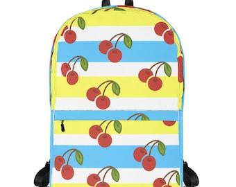 b8bf89c95b Retro Cherry Stripes Backpack