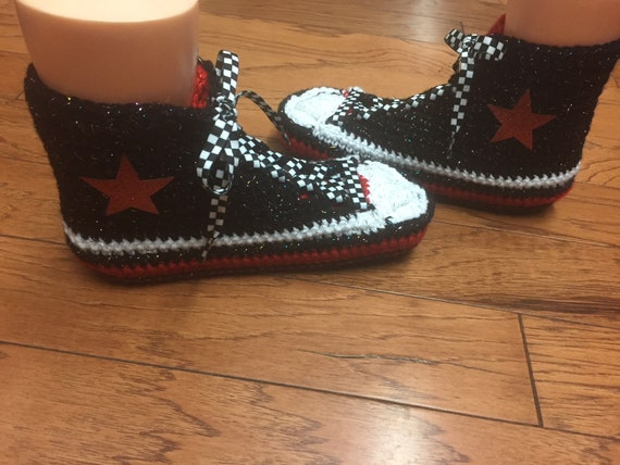 bling converse converse converse slippers Womens red 10 tennis inspired shoes converse crocheted custom 8 high black top sneaker Converse nFOqPw7R