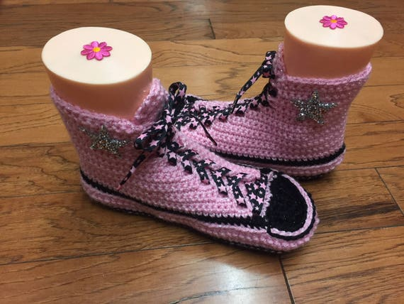 slippers bling high 10 slippers sippers shoe 148 converse converse wedding Womens tennis top pink converse Crocheted converse 8 converse AIHqwvpT