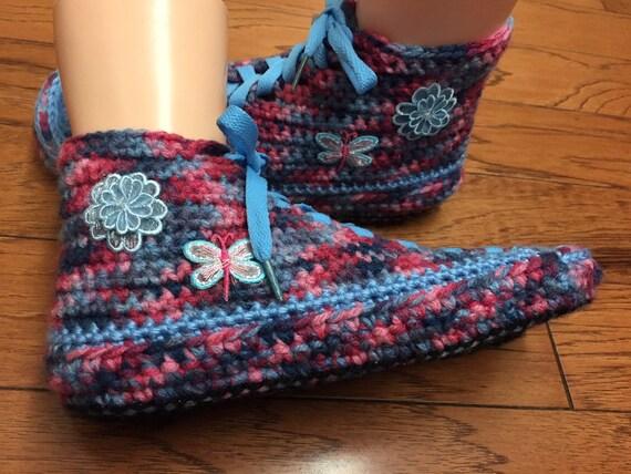 Bonneterie chaussures fleur chaussons liste sneaker 9 7 chaussons crochet femmes 384 fleur papillon chaussures de tennis chaussons baskets tennis r581wqr