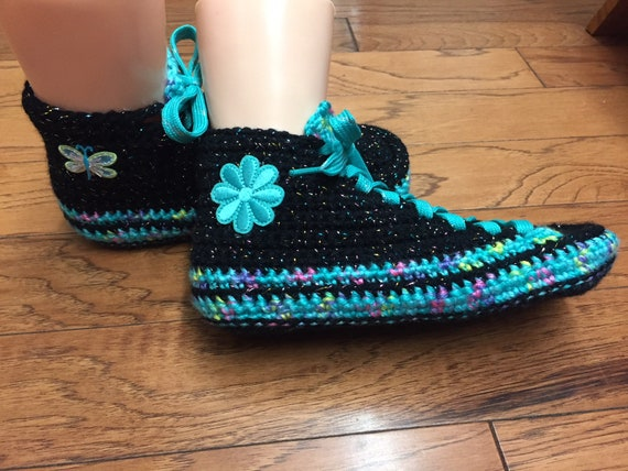tennis tennis slippers flower sneaker butterfly crochet slippers 8 crocheted Womens 373 Crocheted Listing sneakers shoes 10 slippers shoes wIpnqw1d