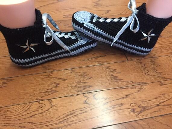 8 sneaker Crocheted crocheted top converse 303 shoe converse high 10 tennis slippers converse converse crochet slippers List silver Womens qZZwIvr