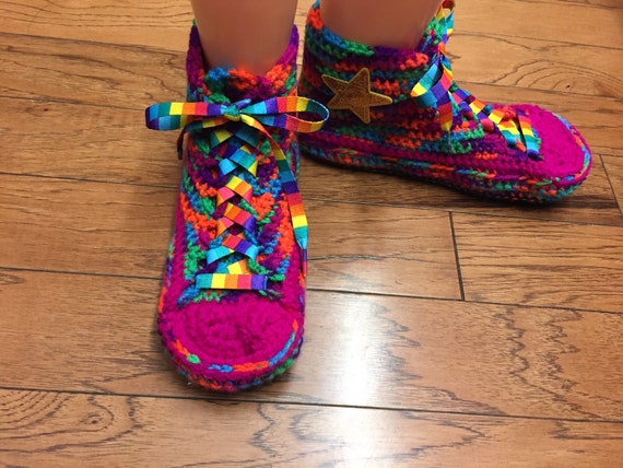 shoes slippers 404 sneaker high 8 converse converse crochet Womens converse rainbow slippers neon 10 inspired Converse converse tennis top qXwISYUY