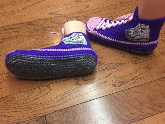 List Crocheted purple shoes tennis 10 slippers 209 Womesn crochet sneakers sneaker crocheted purple shoes shoe 8 tennis house slippers pink pAUwp4q