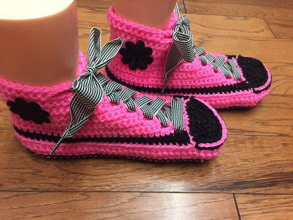 shoe flower shoes pink tennis shoes tennis 7 pink Womens slippers