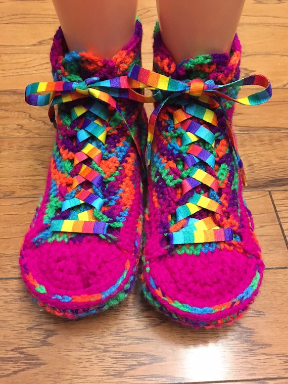 404 shoes 8 converse Womens converse top inspired neon Converse 10 high crochet sneaker slippers rainbow tennis converse slippers converse wqI1Ua4B