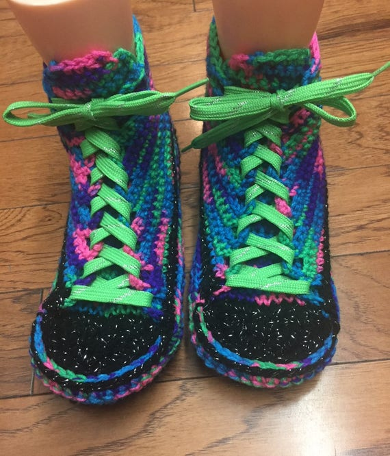 slippers daisy 8 10 house crocheted slippers Slippers rainbow Crocheted flower List Sneaker slippers Tennis Shoe Womens 175 shoes slippers Zq4YfH