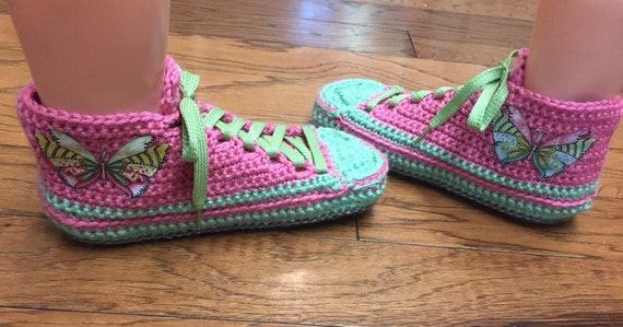 chaussons sneaker crochet crochet papillon papillon de baskets femmes 8 chaussons Chaussure 333 rose sneakers au vert 10 annonce chaussons tennis 610xPqI