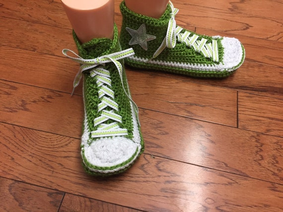 7 tennis sneaker green converse shoes Womens 427 bling crocheted custom converse inspired Converse 9 converse high top slippers converse 1xnHq4a