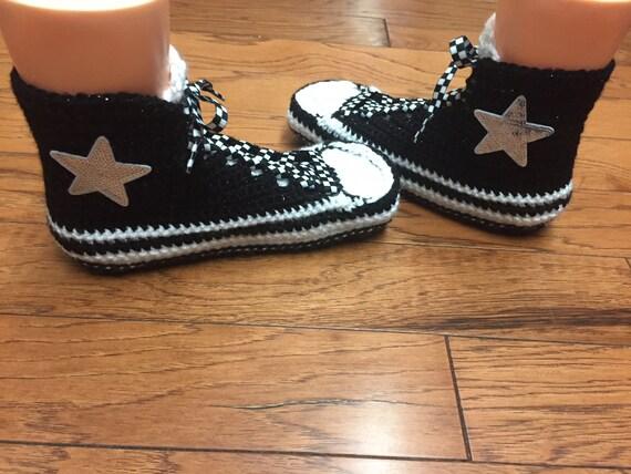 de tennis noir femmes haute 245 9 haut blanc converse blanc noir sneaker chaussure 7 pantoufles chaussons chaussons haut converse Bonneterie pantoufles top qxwZtUI