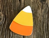 Candy Corn Interchangeable Interchangeable Attachment for welcome sign, home sign, interchangeable, painted wood cutout with velcro