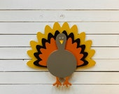 Turkey Interchangeable Interchangeable Attachment for welcome sign, home sign, interchangeable, painted wood cutout with velcro