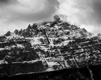Drama Mountain / Canadian Landscape Instant Download / Digital Photography / DIY wall art print