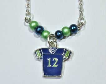 12th Fan Jersey Necklace