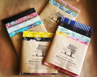 Beeswax Wrap Set - Eco friendly Lucky Dip Fabric (Bowl/Veg Set)