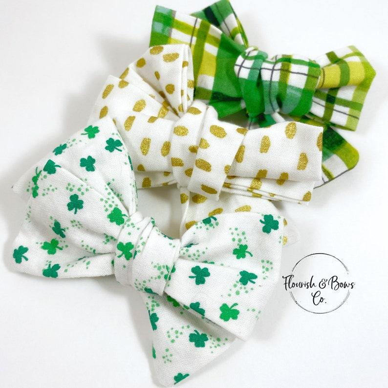St Patricks Day Clip St Patrick/'s Day Clip Bow for Baby Green Hair Clip Green Hair Bow St Patricks Day Hair Bow St Patrick/'s Day Bow