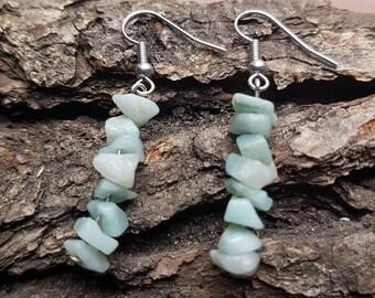 Aventurine earrings | Aventurine jewelry | Gemstone earrings | Boho earrings | Minimalist earrings | Natural stone earrings |Dainty earrings