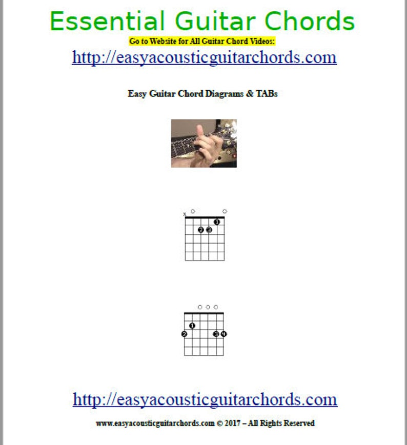 Essential Guitar Chords  Diagrams & TAB  How To Play Guitar image 0