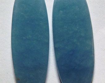 63ddbdca7b1 24.90 Cts Natural Angelite Pair (33mm X 12.7mm each) Cabochon Match Pair A24