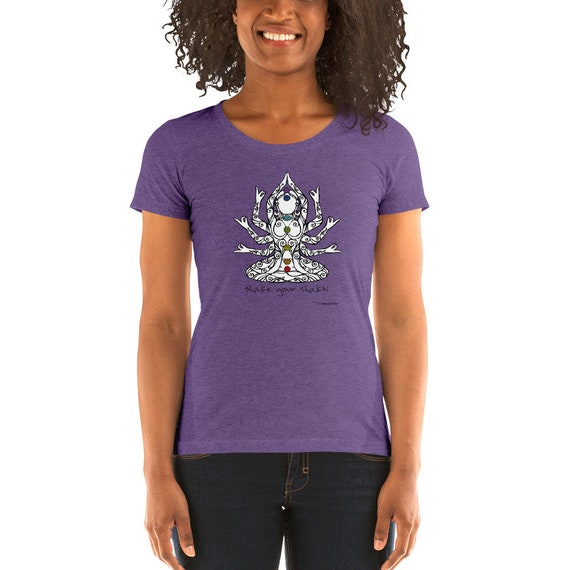 Shake Your Shakti Ladies' Short Sleeve T-Shirt | Ahimsa Ware | Kundalini Yoga | Shiva Shakti | Form Fitting