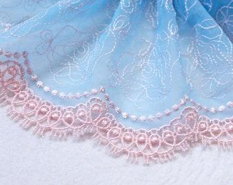 0bdea2bf84c22 Double edge lace | Etsy