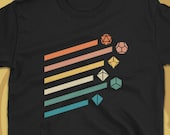 Retro Polyhedral Dice Set Vintage Colors D20 Dungeons and Dragons T-Shirt TRPG TShirt DnD TShirt Tabletop RPG For Men For Women