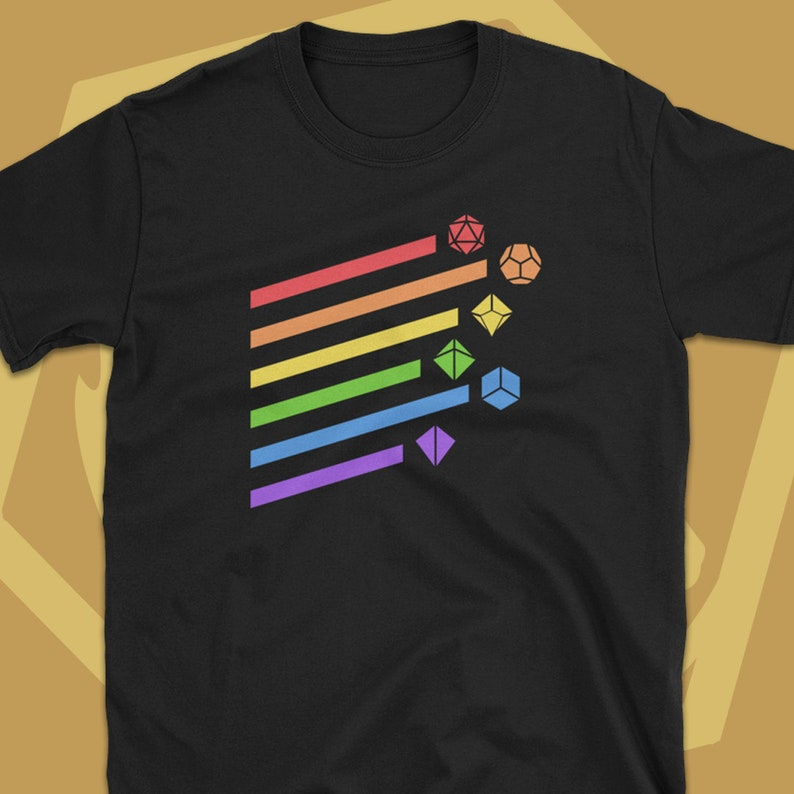 e5ad0649 Rainbow Dice Set Dungeons and Dragons T-Shirt DnD Tshirt | Etsy