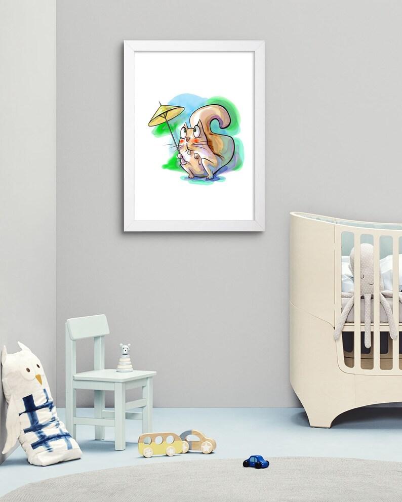 kids print printable Art wall art prints Nursery wall art nursery wall Decor squirrel print Digital Download