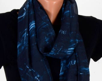 Mathematics Pattern Scraf Black Scarf Infinity Scarf Fall Winter Birthday Woman Gift For Her Wife Winter Fashion Accessories