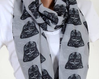 Star Wars Scraf White Scarf Infinity Scarf Fall Winter Birthday Woman Gift For Her Wife Winter Fashion Accessories
