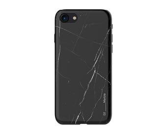 iPhone 7 case – Black Marble