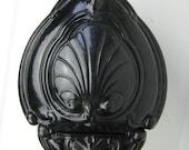 Coal kit French antique cast iron enamel coal wood kit bucket fireplace stove art nouveau deco