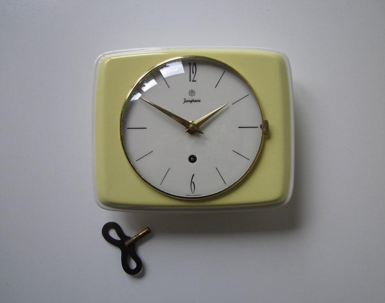 Wondrous Jung Hans Kitchen Clock Ceramic Kitchen Clock Hang Clock Wall Clock Original Box Winding Germany 1960 Vintage Mid Century Download Free Architecture Designs Rallybritishbridgeorg