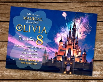 Disney Invitation Castle Birthday Party Printable Kingdom
