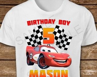 ON SALE 35 Cars Birthday Boy Iron On Transfer Diy Shirt 3