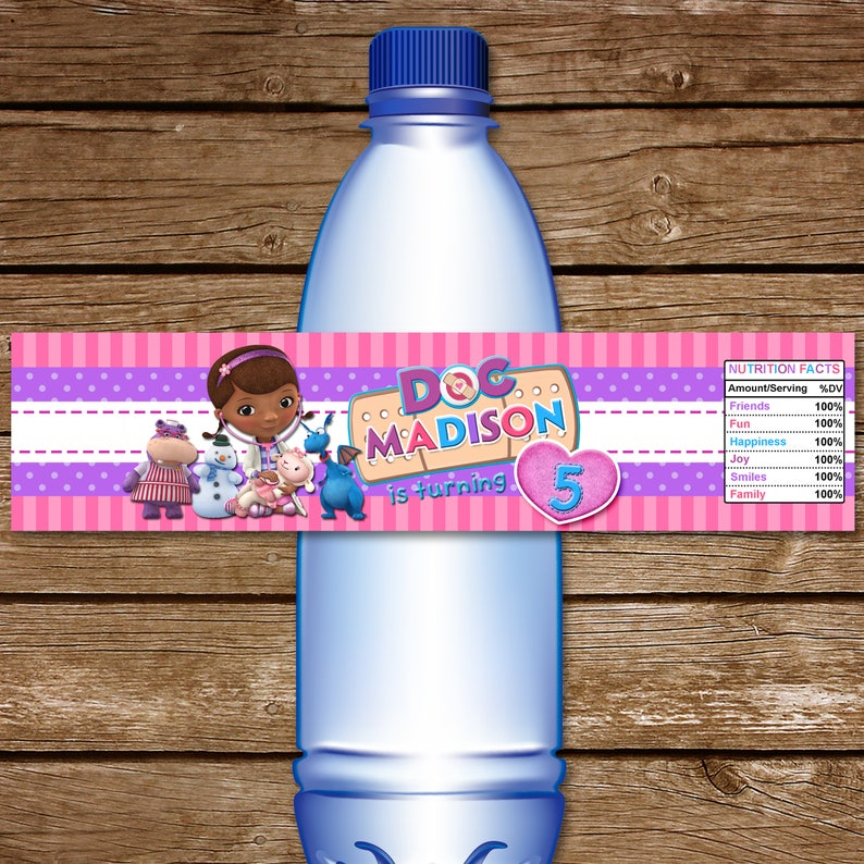photograph relating to Doc Mcstuffins Printable Labels named Document McStuffins Drinking water Bottle Label. Printable Document McStuffins H2o Labels. Document McStuffins Birthday. Document McStuffins Wrappers.