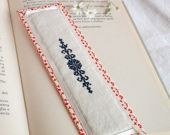 Handmade Bookmark/Scented bookmarks/Lesezeichen/Lavender/Cross stitch finishing/Monogram/Embroidery/Lesezeichen/Boekenlegger/Teacher gift