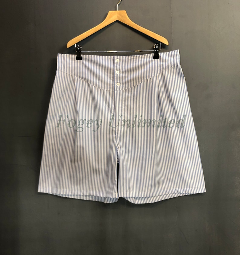 1940s Men's Clothing The Fogey Unlimited Boxer Shorts. Traditional Longer cut style Yoke front Boxer Shorts. World Exclusive $56.80 AT vintagedancer.com