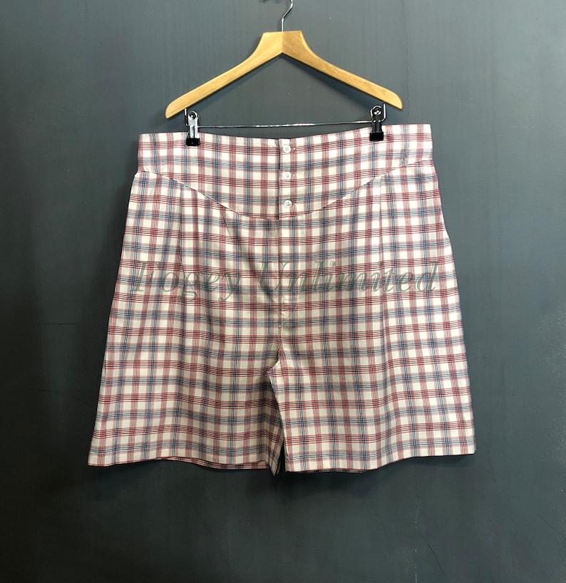Vintage Men's Underwear The Fogey Unlimited Boxer Shorts. Traditional Longer cut style Yoke front Boxer Shorts. World Exclusive $57.76 AT vintagedancer.com