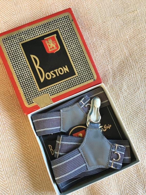 Vintage Gentleman/'s  Traditional Sock Suspendersgarters Burgundy Pindot Gold Plated