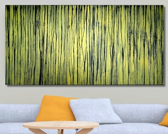 A Crush on Gold (#1) by Carla Sá Fernandes, original, large abstract painting, modern art, home decor