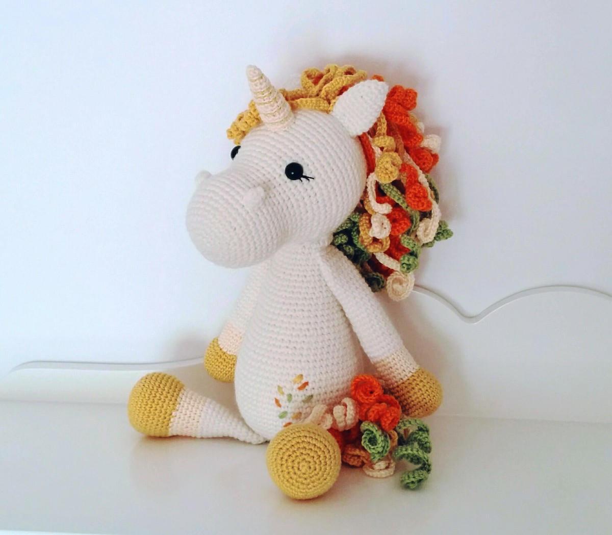 unicornio amigurumi animal de peluche unicornio de | Etsy